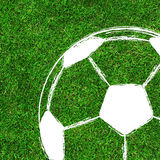 Soccer / Football painting design on green field Stock Photo