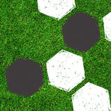 Soccer / Football painting design on green field Stock Images