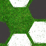 Soccer / Football painting design on green field Royalty Free Stock Photo