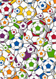 Soccer Football Pattern Stock Photography