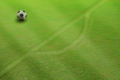 Soccer football on penalty kick Stock Photography