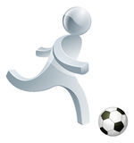 Soccer football person mascot Royalty Free Stock Images