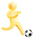 Soccer football person Stock Images