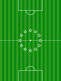 Soccer football pitch and stars background Stock Photo