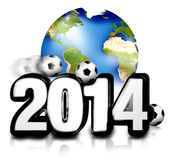 2014 soccer. Football 2014 planet earth design Royalty Free Stock Photo