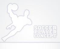 Soccer Football Player Concept Silhouette Stock Photos