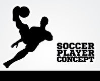 Soccer Football Player Concept Silhouette Royalty Free Stock Image