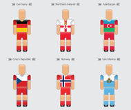 Soccer football player flag europe uniform icon group c Royalty Free Stock Images