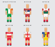 Soccer football player flag europe uniform icon group d Royalty Free Stock Photo