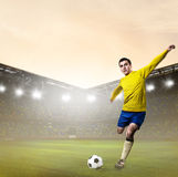 Soccer or football player Royalty Free Stock Photo