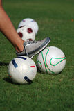 Soccer or Football Player at Rest Stock Photography