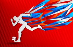 Soccer Football player and Russia color background. Modern event banner design - eps available Stock Photography