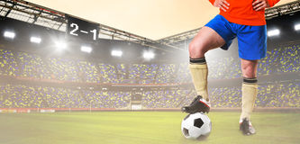 Soccer or football player on stadium. Soccer or football player is standing on stadium Royalty Free Stock Images