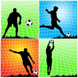 Soccer football players Royalty Free Stock Image