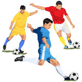 Soccer football players Stock Image
