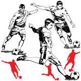 Soccer football players Royalty Free Stock Photography