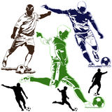 Soccer football players Stock Photography