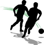 Soccer/Football Players/eps. Illustration of two Soccer/Football players...eps file available, figures can be used separately Royalty Free Stock Image