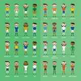 Soccer football players group Stock Images