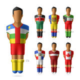 Soccer / football players in national flags unifor Royalty Free Stock Photo