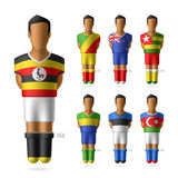 Soccer / football players in national flags unifor Royalty Free Stock Photography