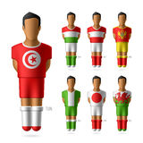 Soccer / football players in national flags unifor Royalty Free Stock Photos