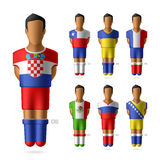 Soccer / football players in national flags unifor Royalty Free Stock Image
