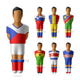 Soccer / football players in national flags unifor Stock Photo