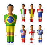 Soccer / football players in national flags unifor Stock Images