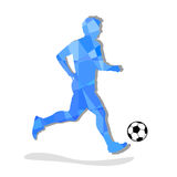 Soccer, football players silhouettes. Illustration. Soccer, football players silhouettes Royalty Free Stock Image