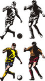 Soccer or football players Royalty Free Stock Image