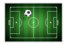 Free Soccer Football Playground With Lines And Flying Ball Royalty Free Stock Images - 139262749