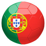 Soccer football with Portugal flag 3d rendering Royalty Free Stock Image