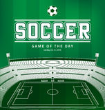 Soccer Football Poster Royalty Free Stock Photos