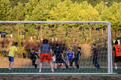 Soccer - Football Practice Stock Images