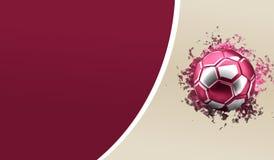 Soccer football of Qatar. football 3d rendering Stock Image