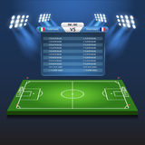Soccer football scoreboard flat isometric vector 3d stadium Stock Image