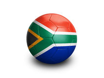 Soccer Football South Africa. High resolution and highly detailed 3D rendering of a south african soccerball. With clipping path removes the soft shadow. More royalty free illustration
