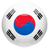 Soccer football with South Korea flag 3d rendering Royalty Free Stock Photos