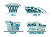 Soccer or football sport stadium or field. Stock Image