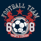 Soccer football sports league team with unicorns.  Royalty Free Stock Image