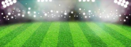 Soccer Football Stadium With Lights stock illustration