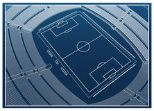 Soccer - Football Stadium Royalty Free Stock Photos