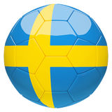 Soccer football with Sweden flag 3d rendering Stock Photography
