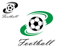 Soccer or football symbol Royalty Free Stock Images