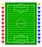 A  soccer football tactical pitch Stock Photo