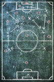 Soccer / football tactics diagram Stock Photo