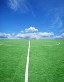 Soccer or football theme. Football grass background in light and shadow Royalty Free Stock Photos