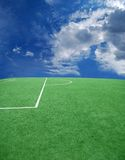 Soccer or football theme. Football grass background in light and shadow Stock Photography