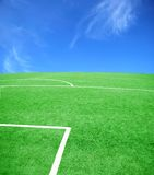 Soccer or football theme. Football grass background in light and shadow Stock Photo
